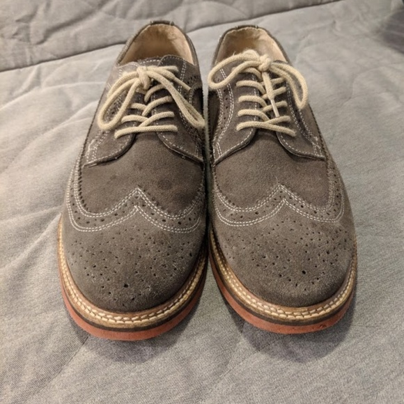caf51719ed8 1901 Other - 1901 Grey Suede Oxford Shoes 9.5 M (Made in Brazil